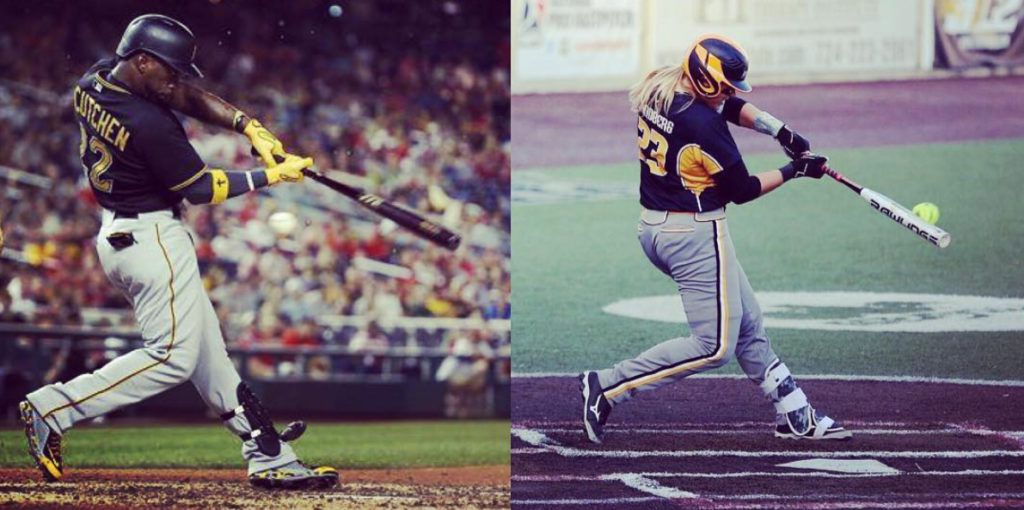 baseball swing vs softball swing