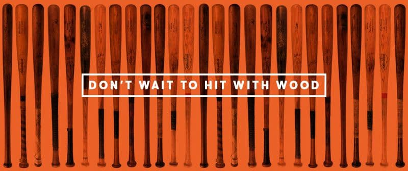 What Hitting with a Wood Bat Can Teach You.