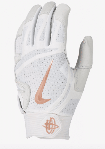 Best Batting Gloves - Nike Hurache Elite - White Gold