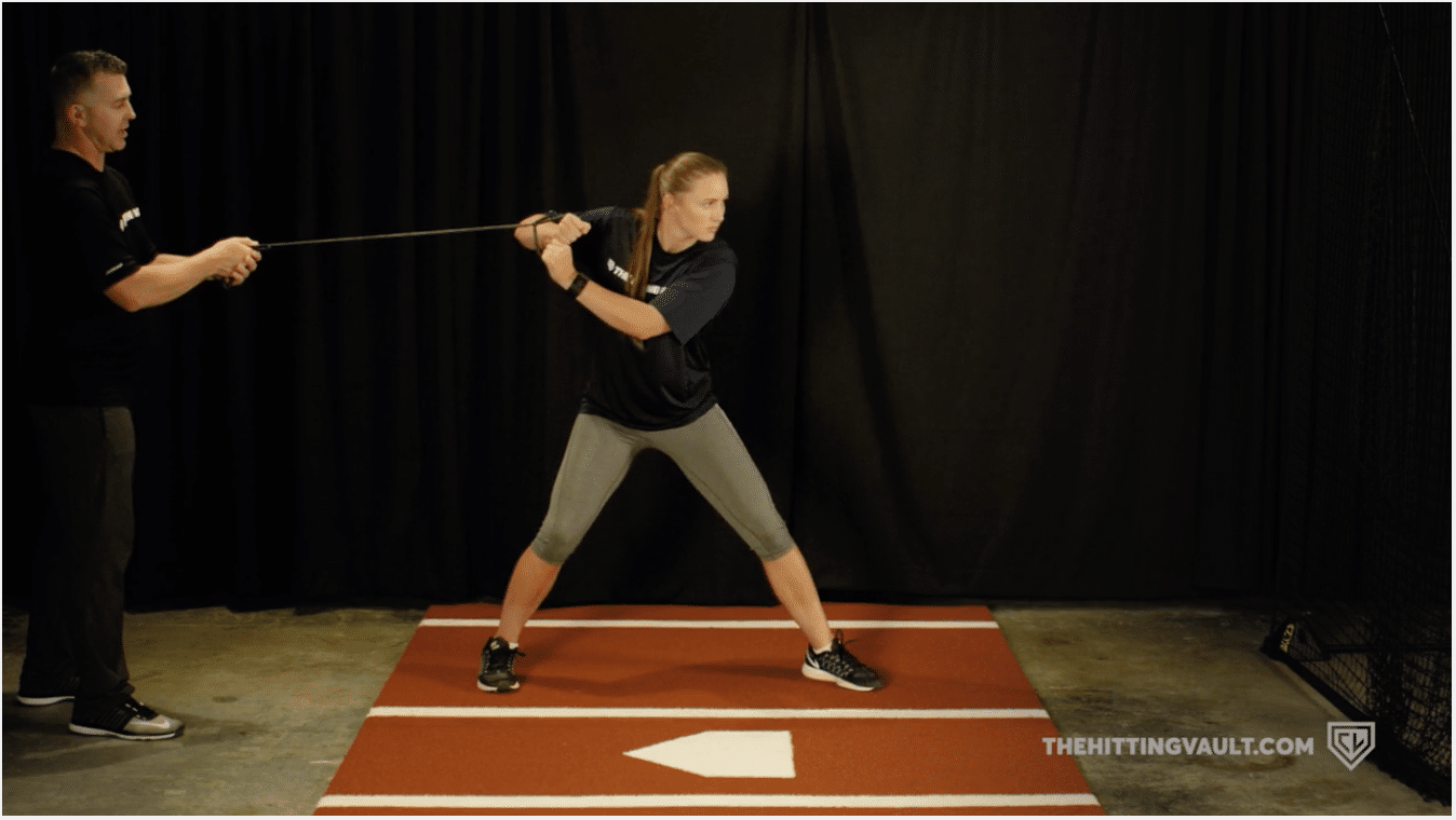 Using resistance bands can help build power at the plate