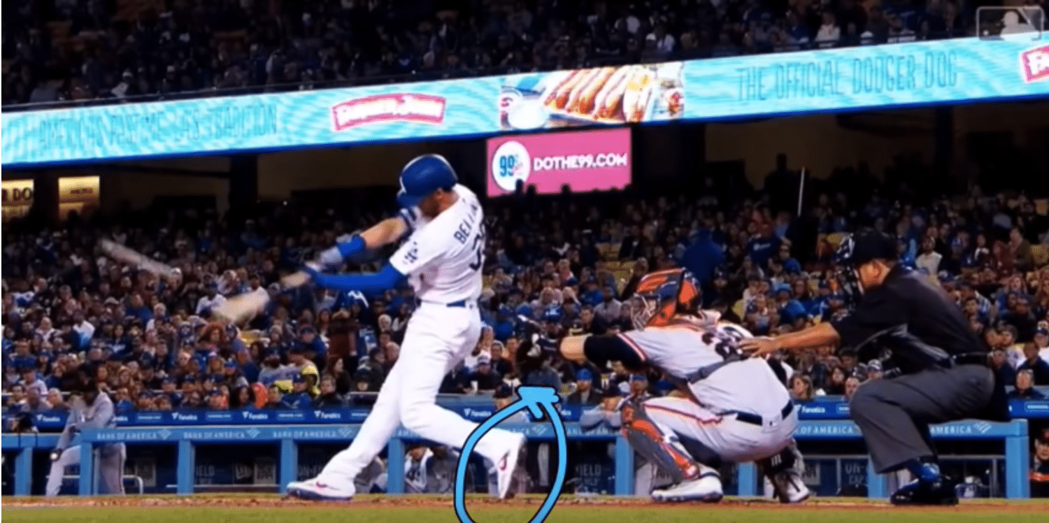 Cody Bellinger Foot Lift - He Does Not Squish The Bug